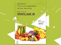 Flyer for vegvillage.in