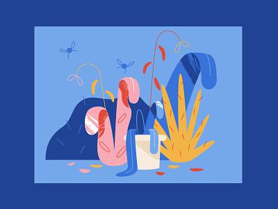 Dead Plantz storyboard design illustrator adobe illustrator texture pot explainer video illustration styleframe nature nature morte plants