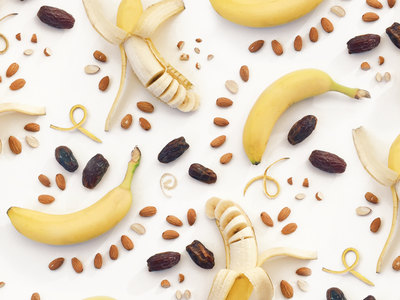 Banana Bread Food Pattern photography print pattern bananas food photography food styling food pattern food