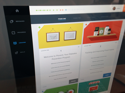 Prevent Lessons prevent lessons color information icons wip web product ui ux design