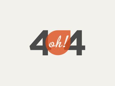 4 oh! 4 404 page web error tan red grey black orange