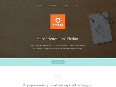 omadahealth.com redesign omada health website healthcare digital tech omadahealth