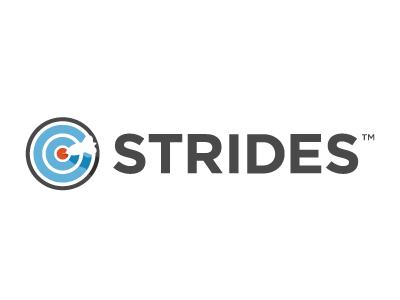 Strides Logo strides logo icon dart bullseye target grey black blue orange red vmware socialcast
