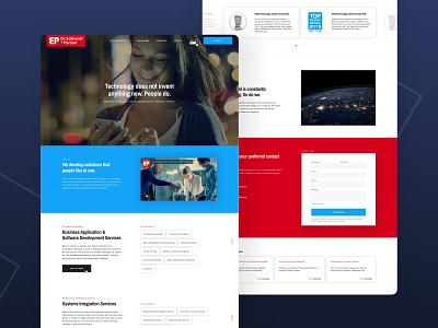 Dr. Eckhardt + Partner - Website layout software company software house software german www web website webdesign video design clean adchitects ux ui