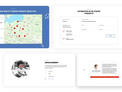Remmed VR - Website set design photo vision sight health software www website webdesign design clean adchitects ux ui