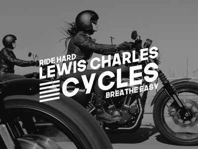 LEWIS CHARLES CYCLES PT. 5 apparel female harley davidson motorcycles motorcycle vector logo designer typography logodesign logo design design logo illustration branding