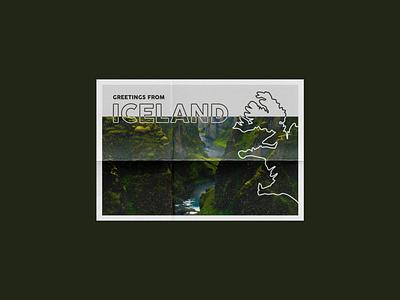WEEKLY WARMUP // PROMPT #31 typography type postcard design postcards dribbble best shot challange dribbbleweeklywarmup branding mountain illustration poster design country iceland postcard