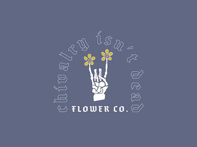 QUARANTINE DIARIES // PT. 5 vector logo designer typography logo logo design illustration flowers illustration flower illustration flowers skeleton logodesign flower logo flower shop flower design