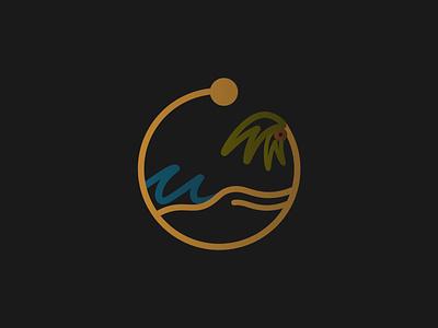 QUARANTINE DIARIES // PT. 10 hawaii palm trees nature sun island waves palm tree california beachy beach logo designer logodesign logo design design branding logo illustration