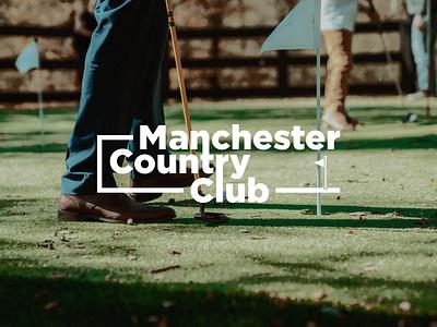 LOGO DESIGN // Manchester Country Club vector logo designer logodesign logo design design branding logo golf club initials logo golfing golf course golf logo golf