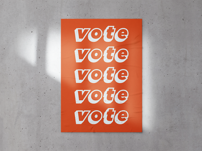 CREATIVES FOR CHANGE // Vote Series Poster voter posters typography design branding illustration biden election 2020 vote votes poster design poster a day poster art poster