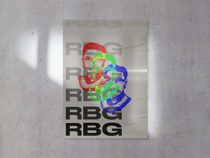 CREATIVES FOR CHANGE // RBG Poster covid 2020 vote 2020 typography retro rgb photocopy creatives for change poster a day poster art poster design logo branding illustration ruth bader ginsburg rbg