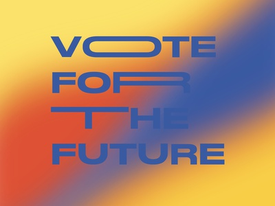 Into Action Creative Jam Prompt #2 // ELECTION NIGHT futuristic retro future gradients gradient election2020 election voter intoaction vote2020 vote