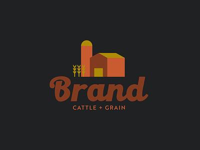 LOGO EXPLORATION // Brand Cattle + Grain logos grain cattle farm barn vector logo designer logodesign logo design logo branding design illustration