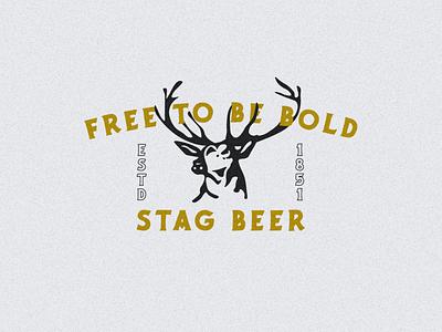 STAG BEER beer label beer branding deer logo deer head deer logo designer typography logo design branding design illustration beer art beer can beer logo logodesign logo beer stag beer stag