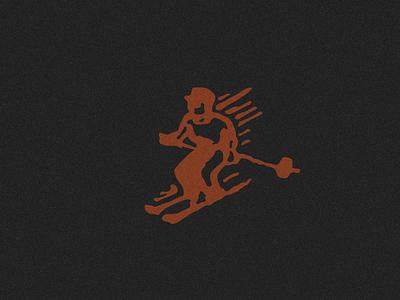 SKIER DOODLE mountains utah olympics athlete sports snow skier logodesign logo design logo branding design illustration ski illustration winter sports mountain winter colroado skiing ski