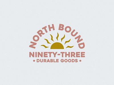 North Bound '93 logo designs beachy apparel logo california typography logodesign logo design logo branding design illustration
