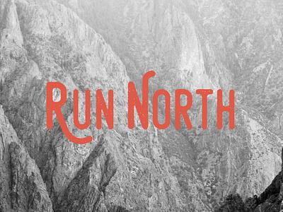 RUN NORTH // NORTH BOUND '93 north apparel design brand design brand running logo run logodesign logo design logo branding design illustration