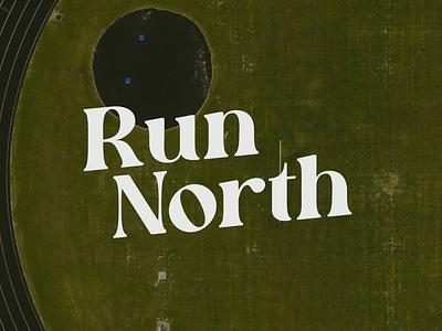 RUN NORTH // NORTH BOUND '93 typography logodesign design illustration branding logo design logo apparel design running logo run