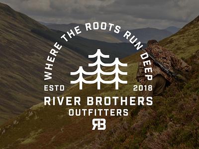 RBO FALL LINE logodesign design illustration outdoors camping adventure apparel logo hunting logo branding logo design logo
