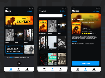 Cinema App [1] theatre films film movies movie design ios application app cinema ux ui