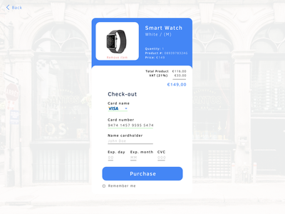 Checkout page Smart Watch ecommerce watch smart checkout page checkout