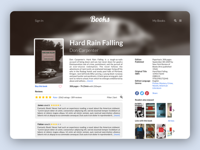 Book review website black goodreads book review review website app design bookstore books book club book app book