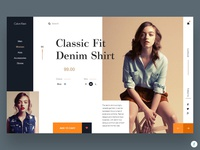 Calvin Klein Product landing page UI design