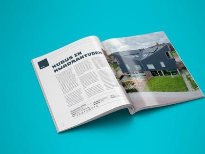 1 op 1 Architectuur brochure design