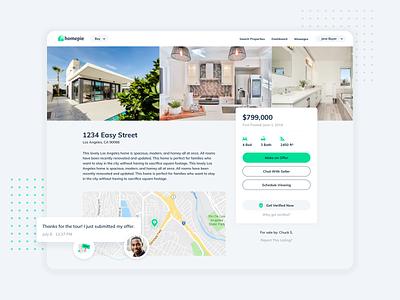Real Estate Listing Page Design detail page listing real estate app product design web branding website ux ui
