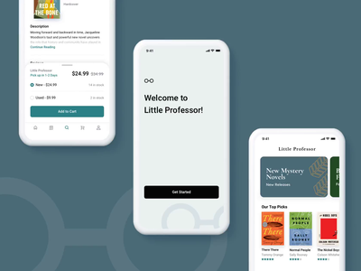 Book Store Mobile App Interactions bookstore book app mobile interactions design principle animation ux ui