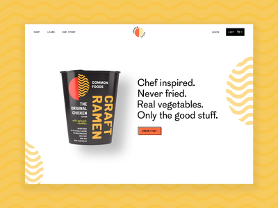 Landing Page Animation - Common Foods