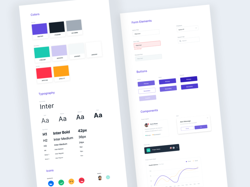 UI Style Guide - Sonar ux ui design typefaces iconography colors style guide fields icons fonts typography buttons color scheme components uikit ui