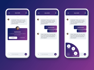 Wireframe to UI - Messaging App product design messaging app wireframe mobile app design animation ux ui