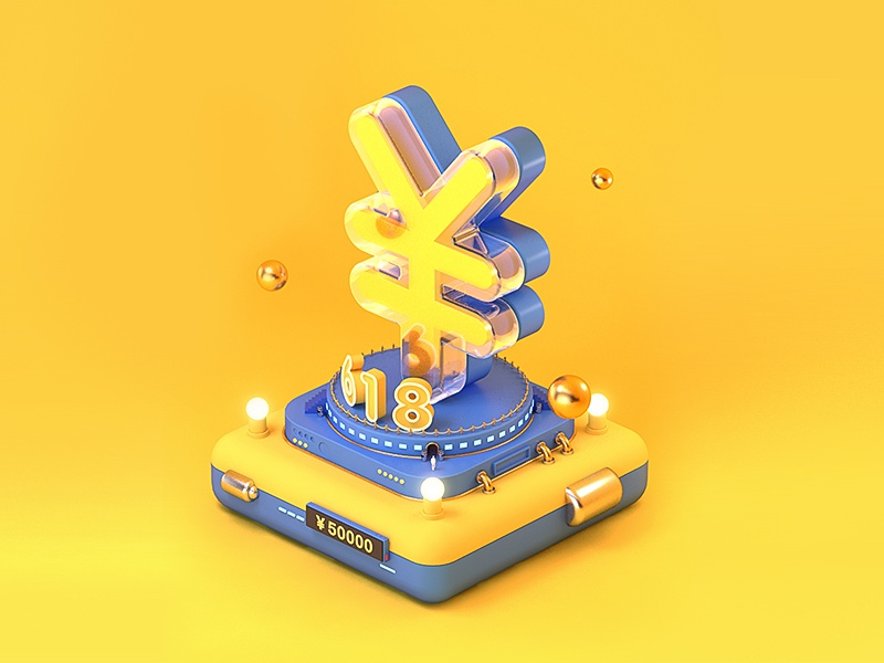 About6.18 case art c4d 2.5d 图标 design