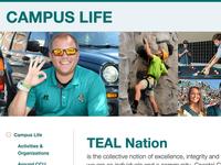 Campus Life Landing Page