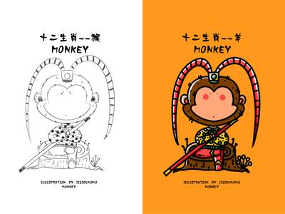 十二生肖--小猴子