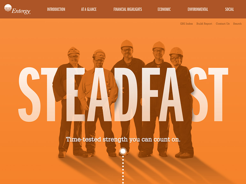 Entergy Concept pt 1 concept typography website