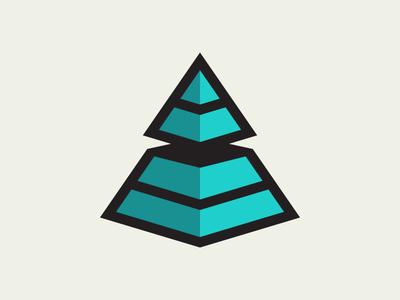 Pyramid logo icon pyramid