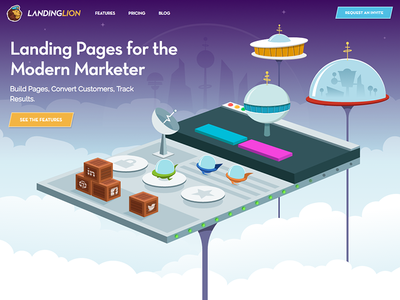 Landing Lion Homepage