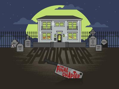 Halloween Invitation vector horror night graveyard house illustration halloween