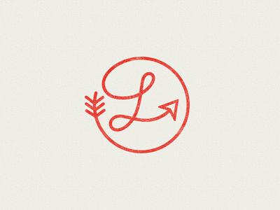 Arrow L single line arrow lettering