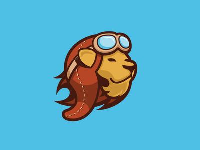 New Landing Lion Logo goggles animal pilot lion logo