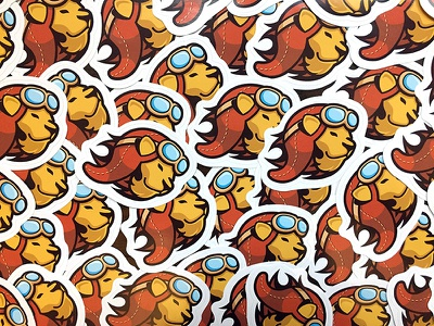 Landing Lion Stickers lion stickers