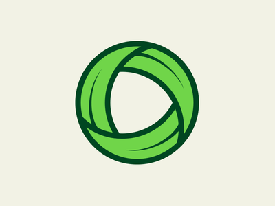 Blades of Grass (Unused Mark) connected circle grass logo