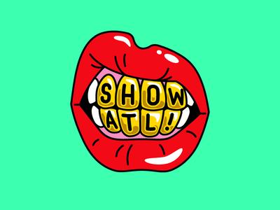 Show ATL dirty south atlanta lips mouth grill