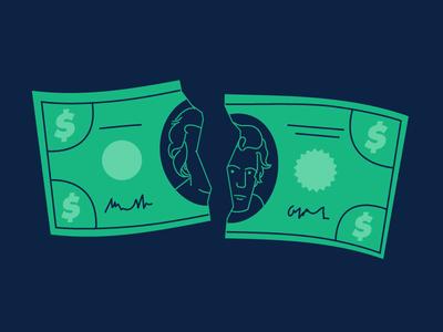 Half Off c.r.e.a.m. illustration money dollar bill