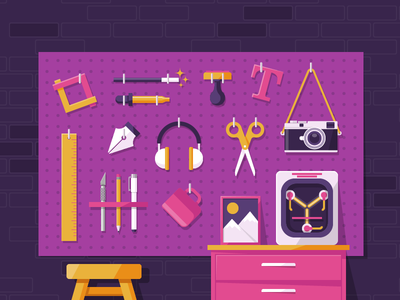 Every Tool for the Job workshop digital tools flux capacitor illustration tools