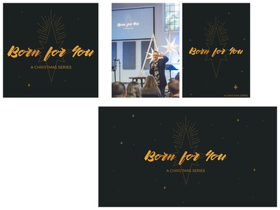 """Born for You"" Christmas Collateral"