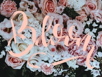 Bloom Lettering Art